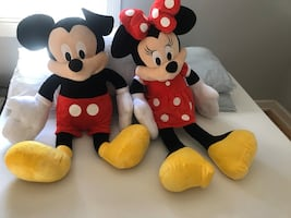 Mickey mouse and Minnie Mouse stuffed animals