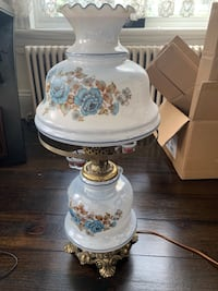 White and blue floral table lamp Danbury, 06810