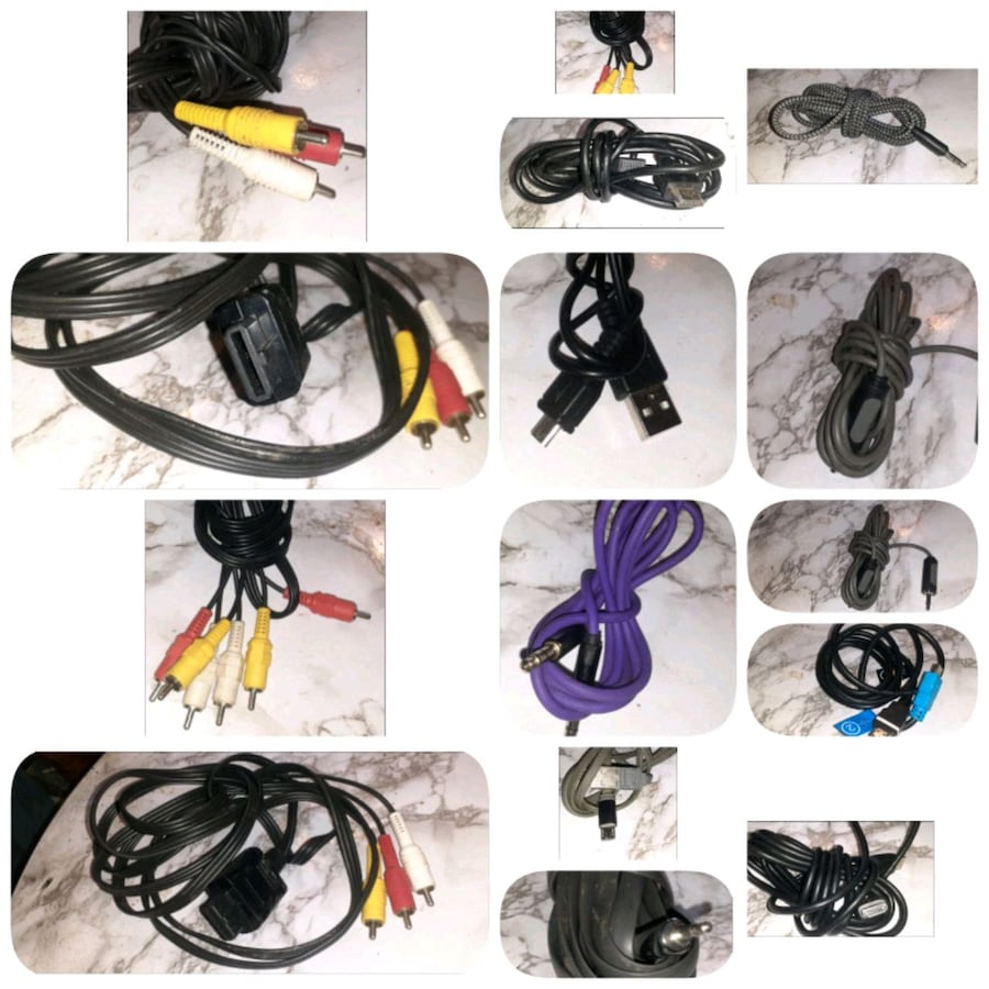 Rca aux android chargers computer cables