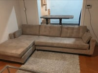 FREE DELIVERY: GREY MICROFIBRE L SHAPE COUCH - GREAT CONDITION Markham, L3R 9W3