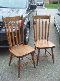 wooden chair $28/each Mississauga