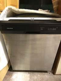 """Amana Used Dishwasher 24"""" Stainless Steel w/Black top New York, 10314"""