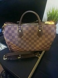 damier ebene Louis Vuitton leather tote bag Yonkers, 10705