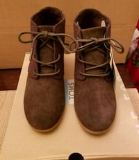 Tom's Brown Ankle Boots 70 km
