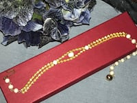 Unusual vintage citrine rhinestones + milk glass choker necklace •• wow! pristine • gift idea
