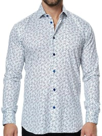 Maceoo Paris Designer Shirt with Bicycles,New.size 4[large] Windsor