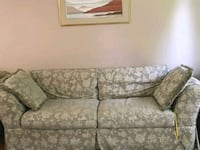 gray and white floral fabric 2-seat sofa Mississauga, L5J 3W2