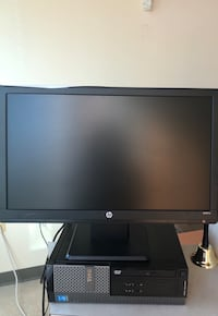 Black hp flat screen computer monitor Chantilly, 20151