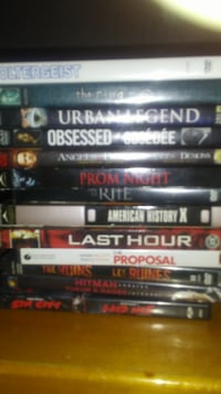 assorted DVD movie case lot WINNIPEG