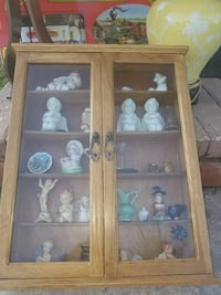 brown wooden framed glass cabinet Miami, 33145
