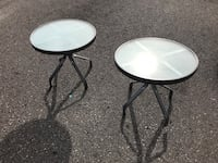 Outdoor patio side tables x 2 Toronto, M6H