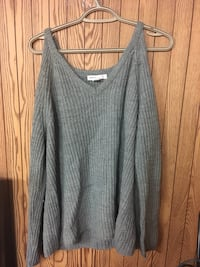 Grey cut out shoulder sweater 1956 km