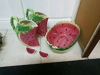 Two watermelon pitchers,  one bowl and salt & pepp Albuquerque, 87108