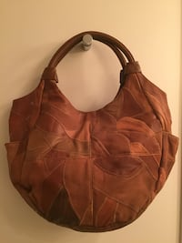 Great American Leatherworks Multi-Color Patchwork Leather Hobo Handbag Darien, 06820