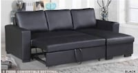 black leather sectional sofa with ottoman Anaheim, 92805