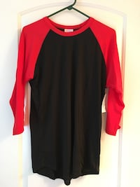 red and black crew-neck shirt Conroe, 77301