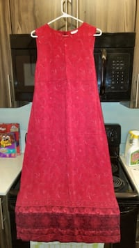 Red Sleeveless Dress-Long Edmonton