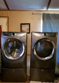 two gray front load washing machines Anderson, 29624