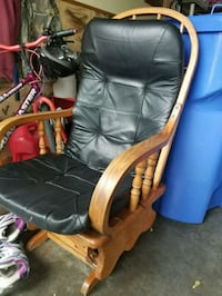 Rocking Chair with leather cover Fargo, 58104