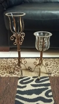 two stainless steel candle holders McAllen, 78501