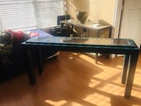 Accent Green wooden glass long table Rockville, 20852