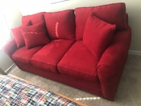 Red fabric 3-seat sofa Charleston, 29412