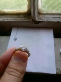 10k gold wedding ring with 3.5ct cz and diamonds Erath, 70533
