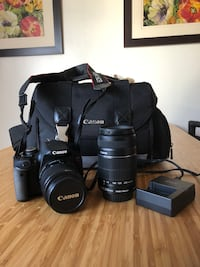 black Canon DSLR camera with bag Los Angeles, 90066
