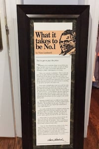 Vince Lombardi What it takes quote framed  Richmond Hill, L4C 6M9