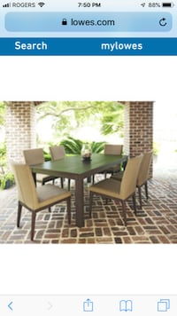 Allen Roth Dellinger Patio Set WOODBRIDGE