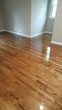 Sand and finish hardwood flooring & re-coats