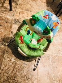 Baby's blue and green Fisher-Price bouncer Woodbridge, 22193