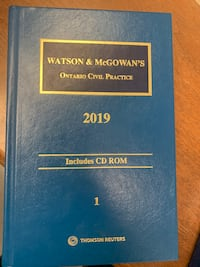 Watson and McGowan's Ontario Civil Practice 2019 - Forms and Materials Toronto, M5G