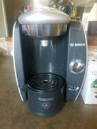 black and gray Bosch coffeemaker Red Deer, T4R 3N8