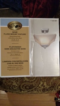 Two Light Fixtures (New in box) - $60.00, each or best offer Montgomery Village, 20886