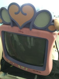 Pink and purple Disney CRT TV