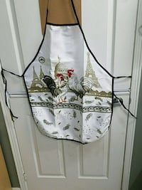 Rooster apron and tea towels  615 km