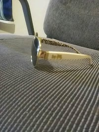 brown and black framed sunglasses