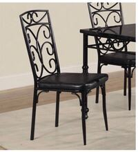 BLACK METAL CHAIRS IN BOX NEW!! EACH $50