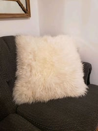 XL Fluffy White Shag Pillow