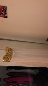 Gold and white gown.  Randallstown, 21133