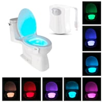 LED Motion Sensing Automatic Toilet Bowl
