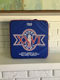 Minneapolis Super Bowl XXVI seat cushion