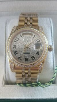 18K GOLD PLATED/ DIMONED/ BRAND NAME WATCH