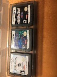 5 nintendo ds game cartridges