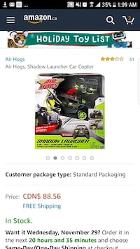 green Air Hogs Shadow Launcher toy