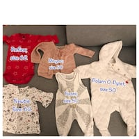5pcs baby clothes size 50 and 62 Oslo, 1271