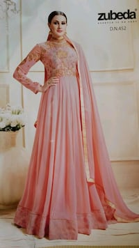 women's pink long-sleeved maxi dress Mississauga, L4T 2Z2