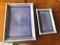 Purple dishes/Plates Set of 10