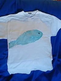 NEW Blue Snapper Print Tee Shirt Ocean Springs, 39564